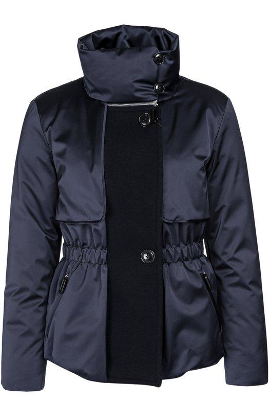 Утепленная приталенная куртка с высоким воротником Giorgio Armani UAB13W/UA194