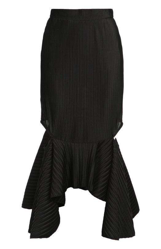 Фактурная юбка асимметричного кроя с разрезами Givenchy 16X/4710/450
