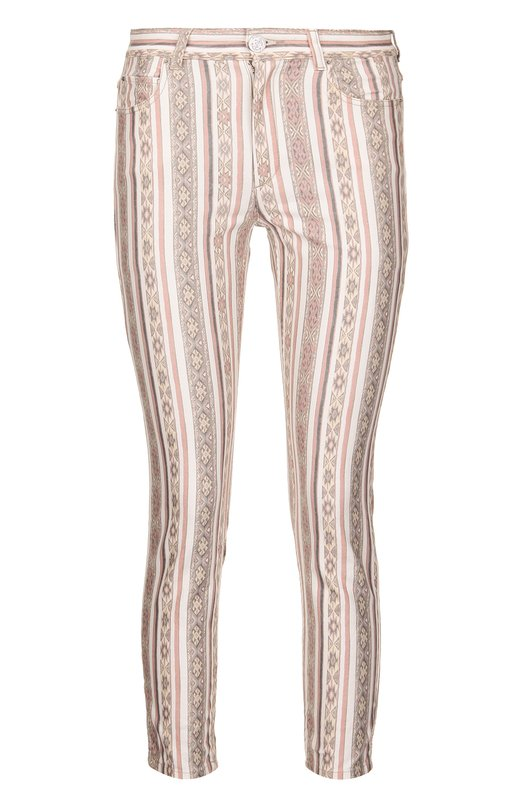 Укороченные джинсы-скинни с ярким принтом Isabel Marant Etoile PA0548-16P017E