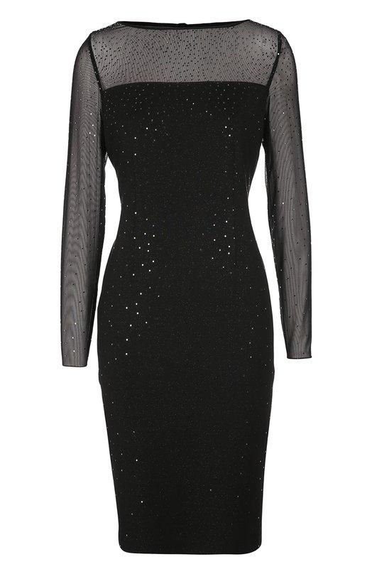 Полупрозрачное платье-футляр с пайетками St. JohnПлатья<br>Черное платье-футляр из вискозы с добавлением волокон шерсти вошло в осенне-зимнюю коллекцию 2016 года. Верх лифа и длинные рукава выполнены из сетки. Модель, декорированная пайетками, застегивается на пуговицу и потайную молнию сзади. Нам нравится сочетать с серебристыми босоножками.<br><br>Российский размер RU: 46<br>Пол: Женский<br>Возраст: Взрослый<br>Размер производителя vendor: 8<br>Материал: Отделка-полиамид: 86%; Вискоза: 58%; Полиэстер: 4%; Шерсть: 38%; Отделка-эластан: 14%;<br>Цвет: Черный