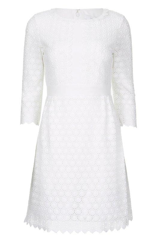 Кружевное приталенное мини-платье с укороченным рукавом Diane Von Furstenberg D973601F16