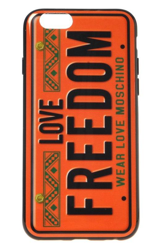 Чехол Freedom для iPhone 6/6s MoschinoЧехлы для iPhone<br><br><br>Пол: Женский<br>Возраст: Взрослый<br>Размер производителя vendor: NS<br>Цвет: Бесцветный