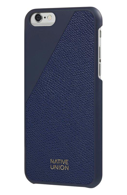 Чехол Clic Leather для iPhone 6/6s Native UnionЧехлы для iPhone<br><br><br>Пол: Женский<br>Возраст: Взрослый<br>Размер производителя vendor: NS<br>Цвет: Синий