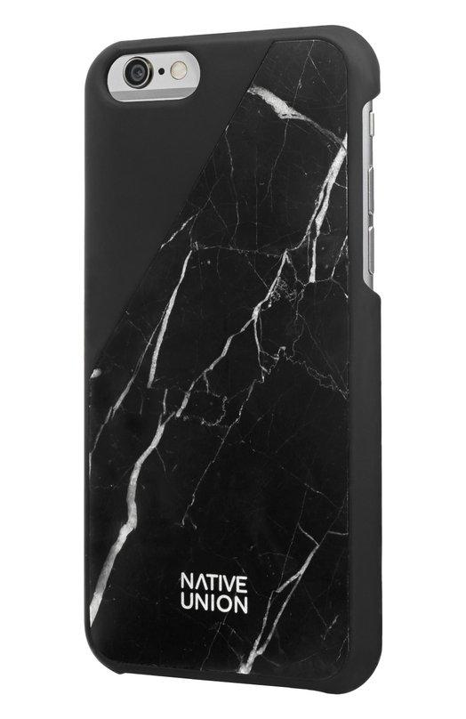 Чехол Clic Marble для iPhone 6/6s Native UnionЧехлы для iPhone<br><br><br>Пол: Женский<br>Возраст: Взрослый<br>Размер производителя vendor: NS<br>Цвет: Черный