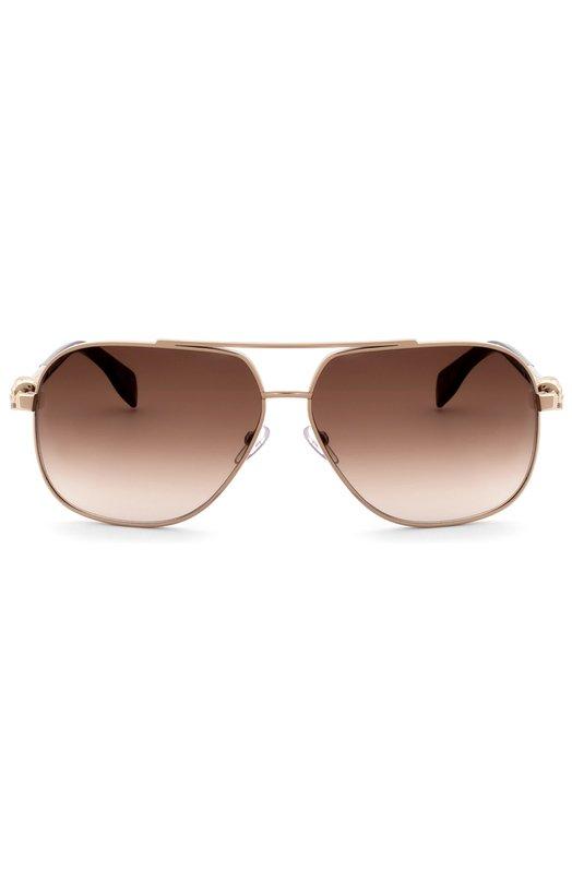 Купить Солнцезащитные очки Alexander McQueen, 0019 002, Италия, Золотой