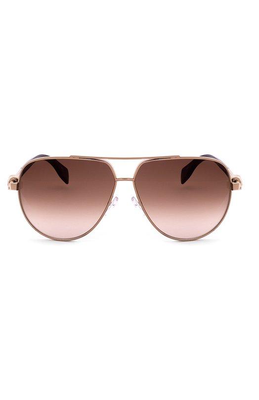 Купить Солнцезащитные очки Alexander McQueen, 0018 002, Италия, Золотой