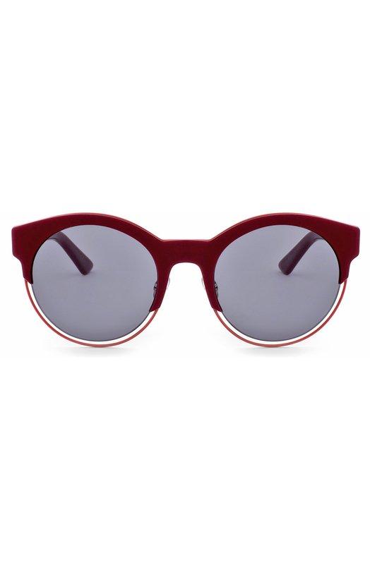 Солнцезащитные очки DiorОчки<br>Для изготовления оправы cat eye использовано сочетание прочного пластика и легкого металла бордового цвета. Солнцезащитные очки Dior Sideral с темно-серыми стеклами вошли в осенне-зимнюю коллекцию 2016 года. Дужки украшены выгравированным логотипом бренда.<br><br>Пол: Женский<br>Возраст: Взрослый<br>Размер производителя vendor: NS<br>Цвет: Бордовый