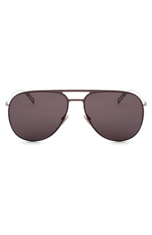 Солнцезащитные очки DiorОчки<br>Солнцезащитные очки с темно-коричневыми стеклами вошли в осенне-зимнюю коллекцию 2016 года. Для создания авиаторов с двойным мостом и ажурными тонкими дужками использован легкий металл серебристого цвета.<br><br>Пол: Женский<br>Возраст: Взрослый<br>Размер производителя vendor: NS<br>Цвет: Темно-коричневый