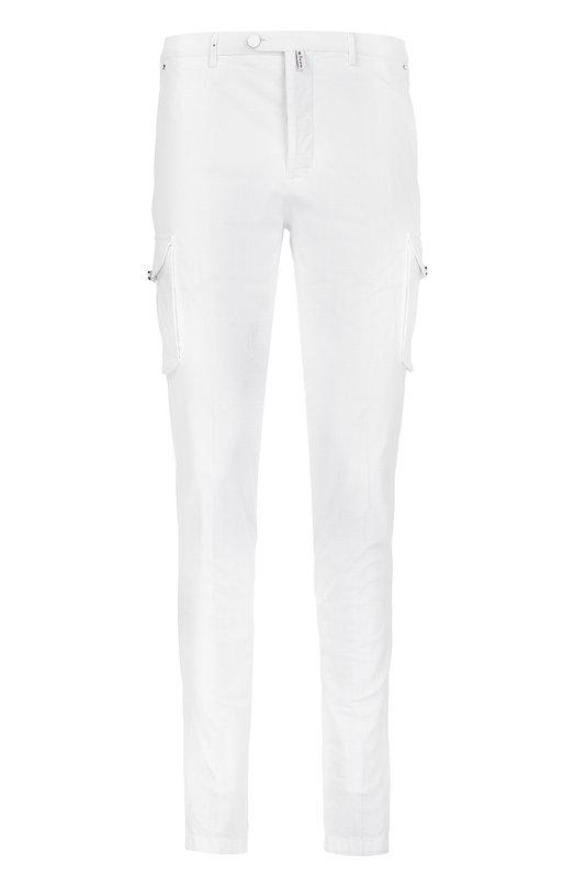 Хлопковые зауженные брюки с накладными карманами KitonБрюки<br>Белые зауженные брюки карго с двумя накладными и четырьмя врезными карманами вошли в коллекцию сезона весна-лето 2016 года. Модель сшита из тонкого эластичного хлопка. Наши стилисты советуют носить с зеленым худи и коричневыми кроссовками.<br><br>Российский размер RU: 50<br>Пол: Мужской<br>Возраст: Взрослый<br>Размер производителя vendor: 34<br>Материал: Хлопок: 98%; Эластан: 2%;<br>Цвет: Белый
