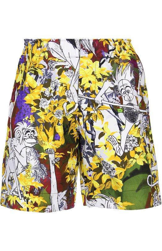 Хлопковые шорты с принтом Kenzo F655PA62156R