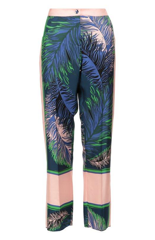 Шелковые брюки в пижамном стиле с ярким принтом Emilio Pucci 66/RT42/66805