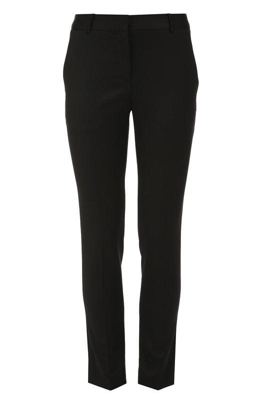Шерстяные брюки прямого кроя с завышенной талией Burberry 4006750
