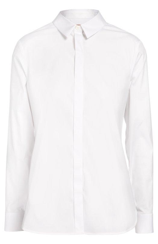 Хлопковая блуза прямого кроя Burberry 3989206