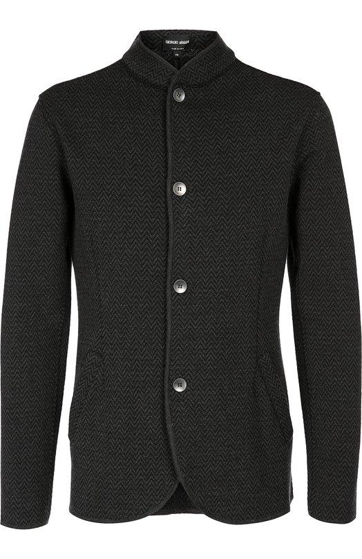 Однобортный пиджак с воротником стойкой Giorgio Armani 6XSG49/SM92Z