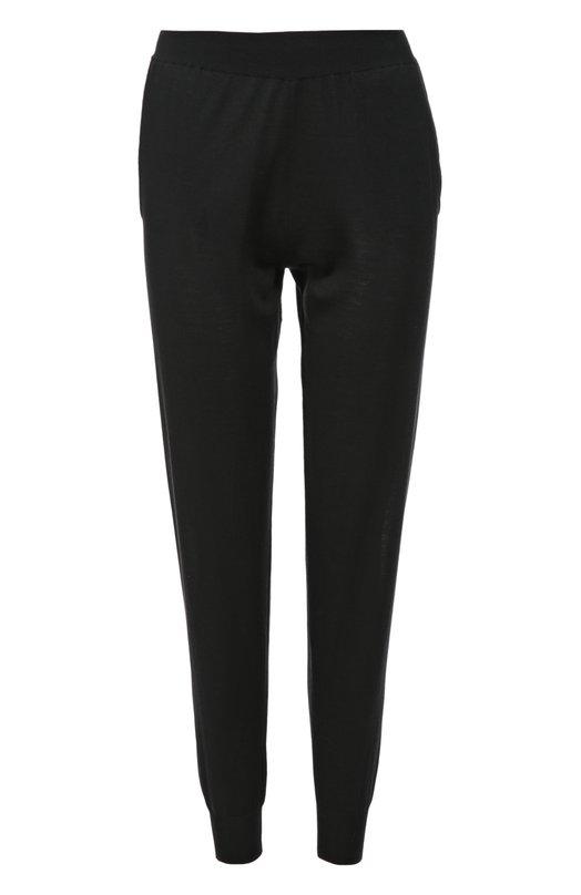 Шерстяные брюки с манжетами и карманами Stella McCartneyБрюки<br>Стелла Маккартни включила брюки с боковыми врезными карманами в коллекцию сезона осень-зима 2016 года. Джоггеры выполнены из эластичной ультрамягкой шерсти черного цвета. Советуем сочетать с красным пуловером, бежевой сумкой и белыми кедами.<br><br>Российский размер RU: 52<br>Пол: Женский<br>Возраст: Взрослый<br>Размер производителя vendor: 44<br>Материал: Отделка-шерсть: 83%; Отделка-эластан: 4%; Отделка-полиамид: 13%; Шерсть: 100%;<br>Цвет: Черный