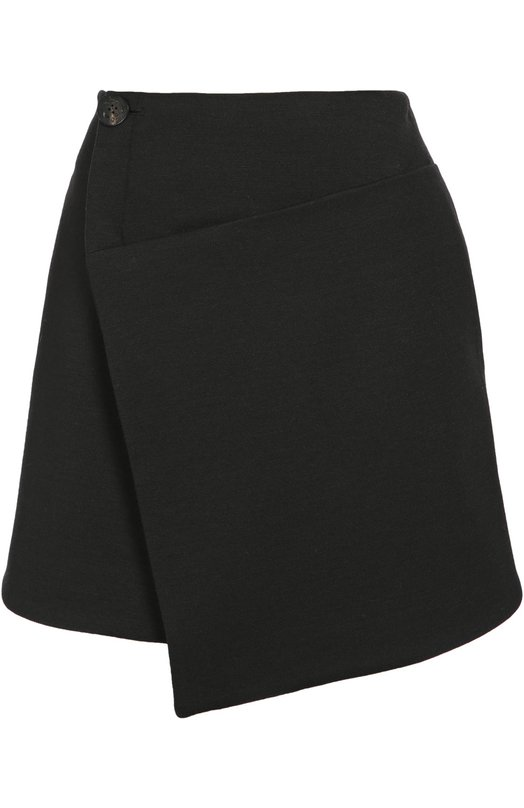 Мини-юбка асимметричного кроя с запахом Balenciaga 436588/TKK19