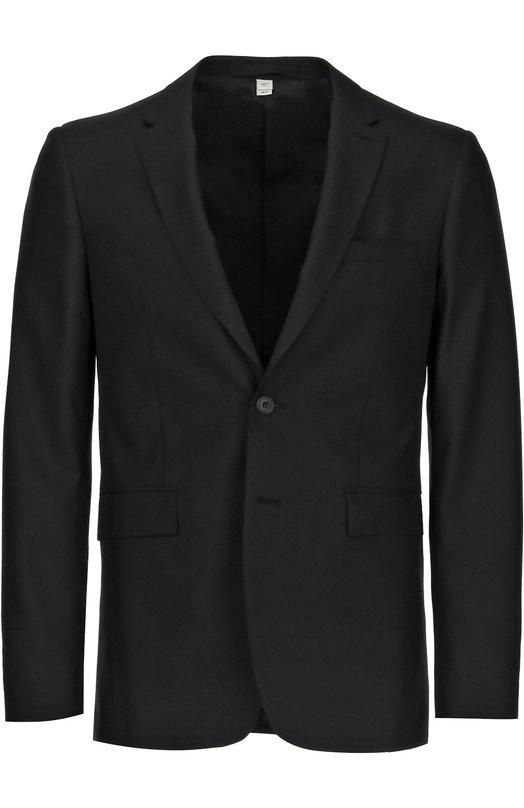 Шерстяной костюм с пиджаком на двух пуговицах Burberry 3932207