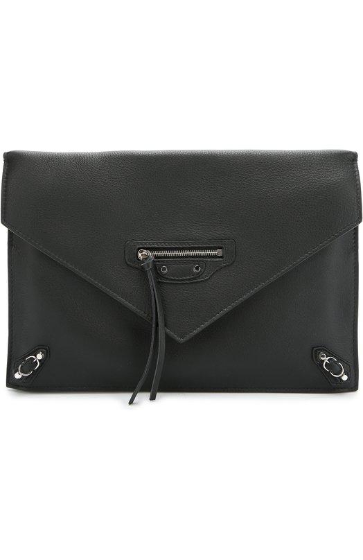 Кожаный клатч-конверт Papier Sight Balenciaga 357328/DLQ1N