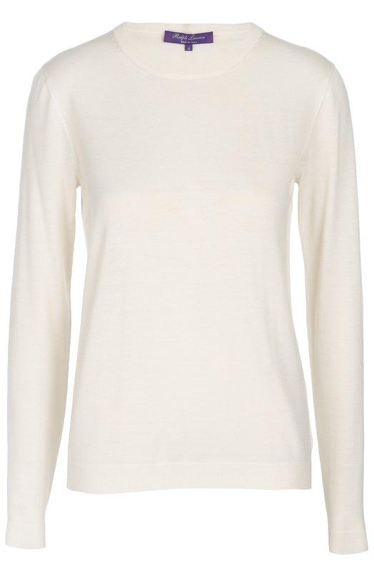 Купить Кашемировый пуловер прямого кроя с круглым вырезом Ralph Lauren, 919/IXJ43/FXJ43, Италия, Кремовый, Кашемир: 99%; Полиамид: 1%;