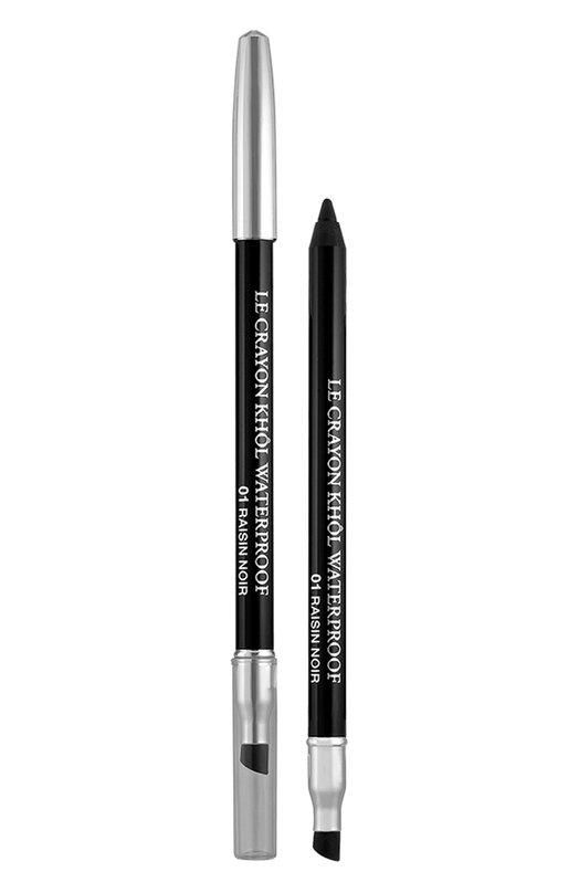 Водостойкий карандаш Le Crayon Khol Waterproof, 01 Raisin Noir Lancome 3147758180510