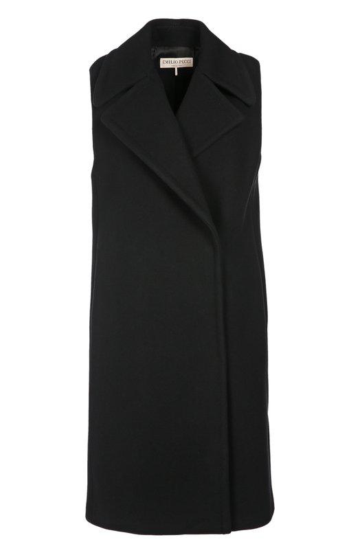 Удлиненный шерстяной жилет с широкими лацканами Emilio Pucci 66/RA43/66605