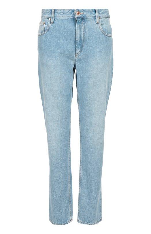 Джинсы прямого кроя с завышенной талией Isabel Marant EtoileДжинсы<br>Светло-голубые прямые джинсы вошли в коллекцию сезона осень-зима 2016 года. Изабель Маран выбрала для создания модели, прошитой нитью коричневого цвета, плотный хлопок. Нам нравится сочетать с розовой футболкой, курткой цвета хаки и белыми кедами.<br><br>Российский размер RU: 44<br>Пол: Женский<br>Возраст: Взрослый<br>Размер производителя vendor: 40<br>Материал: Хлопок: 100%;<br>Цвет: Светло-голубой
