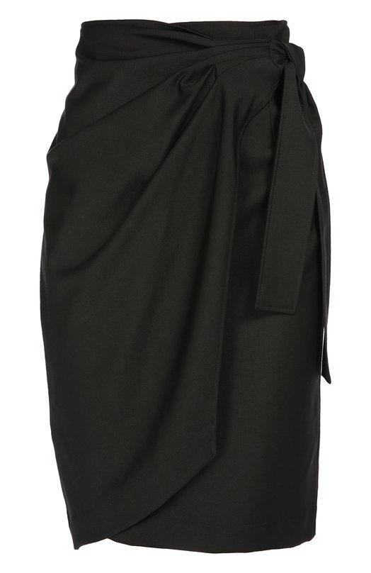 Шерстяная юбка-миди с запахом Isabel Marant EtoileЮбки<br>Изабель Маран включила в осенне-зимнюю коллекцию 2016 года черную юбку Natacha с запахом. Модель длиной до колен сшита из тонкой, легко драпирующейся шерсти. Советуем носить с клетчатой рубашкой, белыми сабо и красной сумкой.<br><br>Российский размер RU: 42<br>Пол: Женский<br>Возраст: Взрослый<br>Размер производителя vendor: 36<br>Материал: Шерсть овечья: 100%;<br>Цвет: Черный