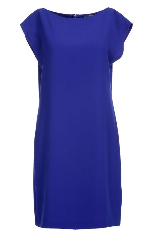 Мини-платье прямого кроя с вырезом-лодочка Polo Ralph LaurenПлатья<br>Короткое платье прямого кроя, без рукавов вошло в коллекцию сезона осень-зима 2016 года. Ральф Лорен выбрал для создания модели с вырезом-лодочкой тонкий немнущийся креп глубокого синего цвета. Рекомендуем носить с белыми кроссовками и сумкой.<br><br>Российский размер RU: 48<br>Пол: Женский<br>Возраст: Взрослый<br>Размер производителя vendor: 10<br>Материал: Полиэстер: 100%;<br>Цвет: Синий