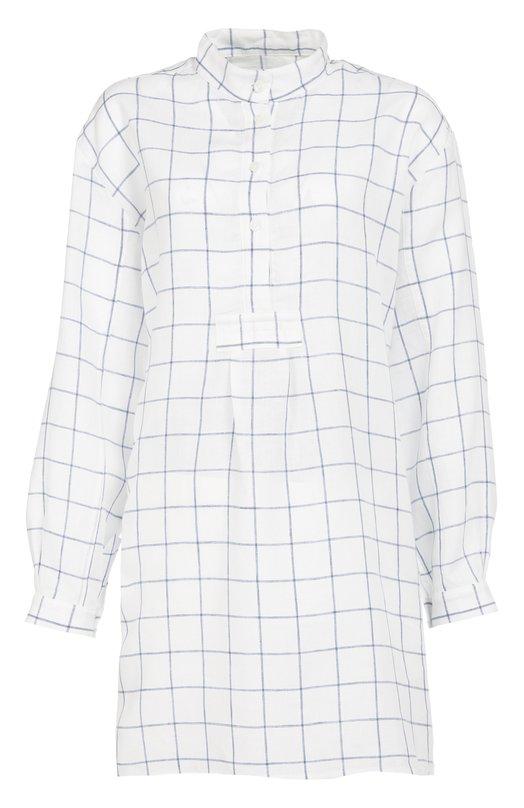 Хлопковая домашняя блуза в клетку The Sleep Shirt 300/L00KLIN