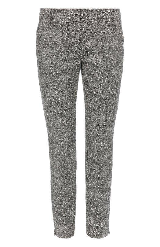 Укороченные брюки прямого кроя Dorothee SchumacherБрюки<br>Укороченные брюки с двумя боковыми и двумя задними врезными карманами вошли в осенне-зимнюю коллекцию 2016 года. Доротея Шумахер выбрала для создания модели прямого кроя плотный черный жаккард с контрастным графическим принтом. Советуем носить со светло-серой сумкой, белыми сабо и пуловером.<br><br>Российский размер RU: 44<br>Пол: Женский<br>Возраст: Взрослый<br>Размер производителя vendor: 2<br>Материал: Полиэстер: 42%; Хлопок: 37%; Эластан: 3%; Полиамид: 18%;<br>Цвет: Разноцветный