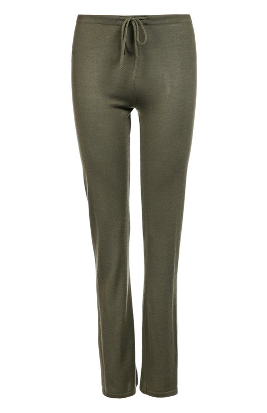 Купить Кашемировые брюки с эластичным поясом и накладными карманами Back Label, WDCHSP, Италия, Хаки, Кашемир: 100%;