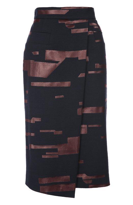 Асимметричная юбка-карандаш с контрастной отделкой Escada 5020682