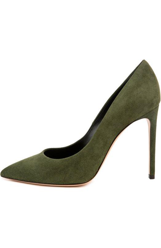 Замшевые туфли Perfect на шпильке Casadei 1F021/CAM0