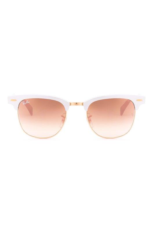 Солнцезащитные очки Ray-BanОчки<br>Для создания квадратной оправы мастера бренда использовали легкий матовый алюминий серебристого и золотистого цветов. Дужки дополнены заушниками из черного прочного пластика. Солнцезащитные очки clubmaster с градиентными зеркальными стеклами медного цвета вошли в осенне-зимнюю коллекцию 2016 года.<br><br>Пол: Женский<br>Возраст: Взрослый<br>Размер производителя vendor: NS<br>Цвет: Белый
