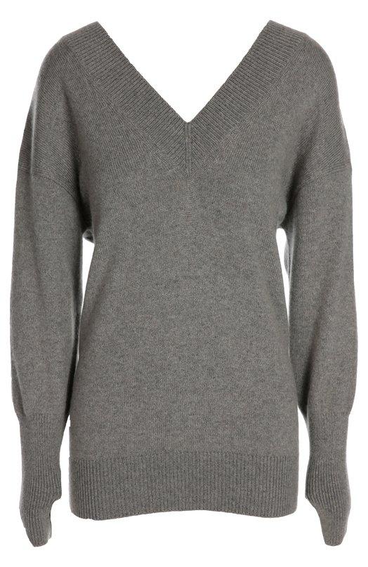 Кашемировый пуловер со спущенным рукавом и V-образным вырезом Tom FordСвитеры<br><br><br>Российский размер RU: 48<br>Пол: Женский<br>Возраст: Взрослый<br>Размер производителя vendor: L<br>Материал: Кашемир: 100%;<br>Цвет: Серый
