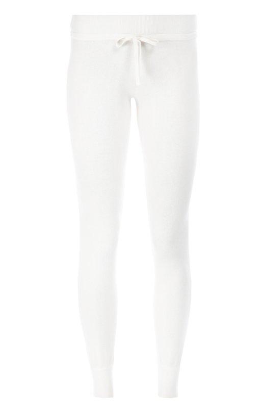 Кашемировые брюки прямого кроя с эластичным поясом и манжетами CrucianiБрюки<br>Лука Капраи включил в осенне-зимнюю коллекцию 2016 года джоггеры с манжетами и широким поясом-кулиской. Трикотажные брюки прямого кроя изготовлены из эксклюзивного тонкого кашемира diamante rosso белого цвета. Рекомендуем носить с худи в тон и светлыми кедами.<br><br>Российский размер RU: 48<br>Пол: Женский<br>Возраст: Взрослый<br>Размер производителя vendor: 46<br>Материал: Кашемир: 100%;<br>Цвет: Белый