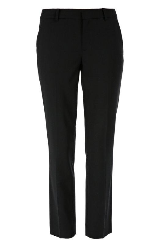 Укороченные брюки прямого кроя с карманами Ralph LaurenБрюки<br>Ральф Лорен выбрал для создания брюк Heidi с двумя боковыми и двумя задними прорезными карманами тонкую эластичную шерсть черного цвета. Модель вошла в коллекцию сезона осень-зима 2016 года. Попробуйте носить с серым кардиганом, синей водолазкой и туфлями в тон.<br><br>Российский размер RU: 54<br>Пол: Женский<br>Возраст: Взрослый<br>Размер производителя vendor: 16<br>Материал: Шерсть: 96%; Эластан: 4%;<br>Цвет: Черный