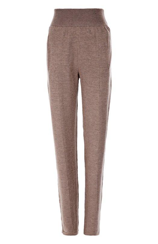 Шерстяные брюки прямого кроя с эластичным поясом и карманами Lanvin RW-TR3540-MN08-A16