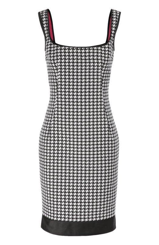 Платье-футляр на бретельках с принтом гусиная лапка Dsquared2 S75CU0365/S45291
