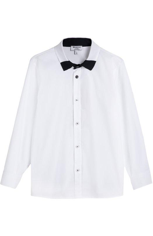 Хлопковая рубашка с контрастным воротником Aletta AMV666287/3-8
