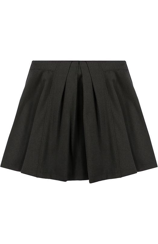 Юбка из смеси вискозы и полиэстера AlettaЮбки<br>Короткая расклешенная юбка из плотного серого текстиля вошла в коллекцию сезона осень-зима 2016 года. Модель, украшенная встречными складками, застегивается сбоку на потайную молнию. Нам нравится носить с блузой и школьным жакетом.<br><br>Размер Years: 6<br>Пол: Женский<br>Возраст: Детский<br>Размер производителя vendor: 116-122cm<br>Материал: Подкладка-ацетат: 60%; Полиэстер: 52%; Вискоза: 44%; Подкладка-вискоза: 40%; Эластан: 4%;<br>Цвет: Серый