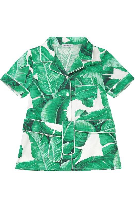 Хлопковая блуза с поясом Dolce & Gabbana 0131/L52S50/FS500/8-12