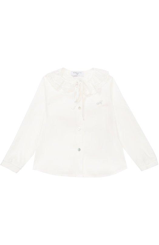 Блуза из вискозы с декором Monnalisa 118306/8103/2-8