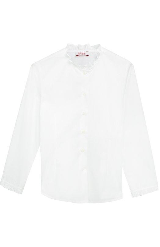 Блуза из эластичного хлопка Il Gufo A16CL075/C0031/5-8