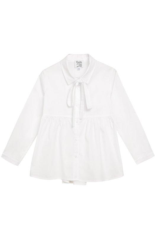Блуза с бантом из эластичного хлопка Aletta AC666251/3-8