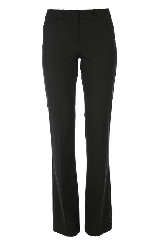 Расклешенные брюки с карманами и стрелками TheoryБрюки<br>Черные брюки со стрелками вошли в осенне-зимнюю коллекцию 2016 года. Расклешенная модель с боковыми карманами выполнена из мягкой овечьей шерсти. Нам нравится сочетать с жакетом, босоножками и сумкой в тон, а также с белым топом.<br><br>Российский размер RU: 42<br>Пол: Женский<br>Возраст: Взрослый<br>Размер производителя vendor: 4<br>Материал: Шерсть овечья: 97%; Эластан: 3%;<br>Цвет: Черный