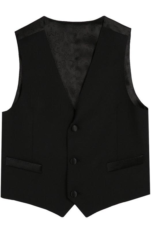 Жилет на пуговицах из смеси шерсти и шелка Dolce & Gabbana 0131/L41V06/FU2UZ/8-12