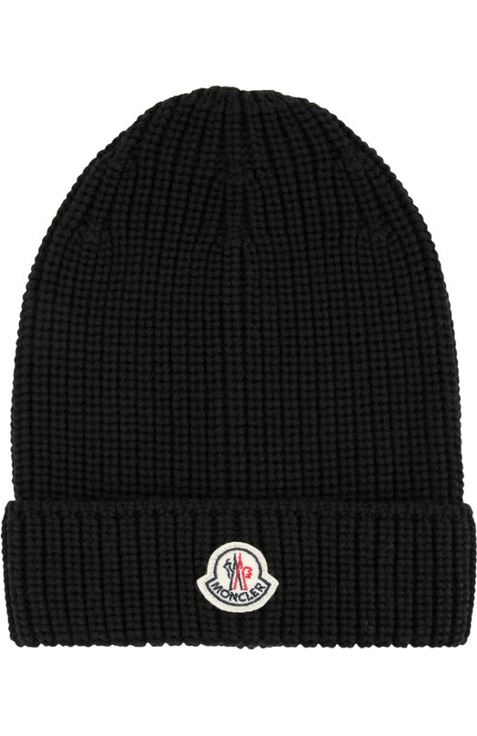 Шерстяная шапка ребристой вязки Moncler B2-091-00314-00-04680