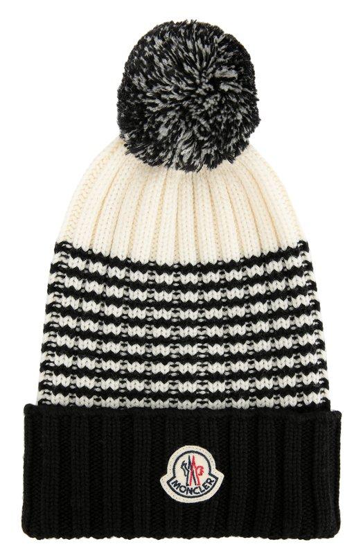 Шерстяная шапка с помпоном Moncler B2-091-00351-00-09900