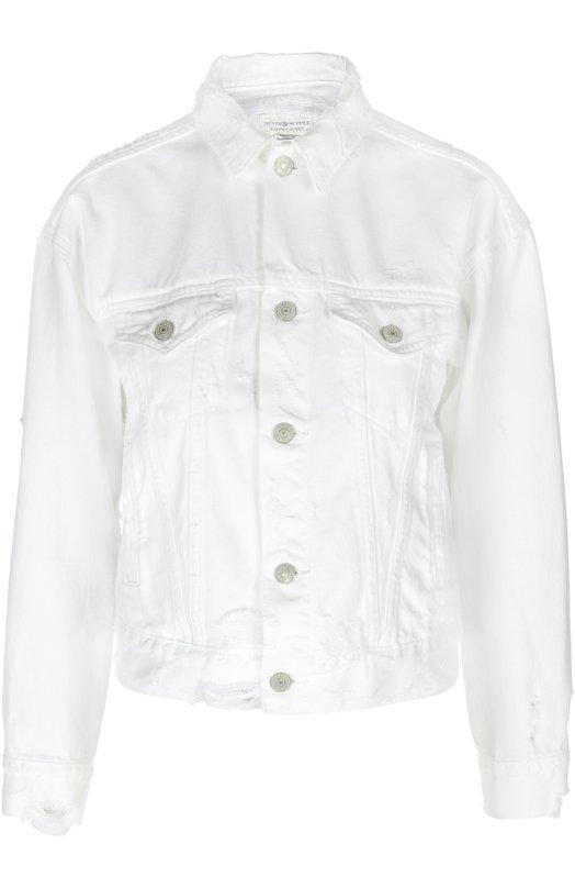 Джинсовая укороченная куртка с потертостями Denim&Supply by Ralph Lauren W31/DS196/022DS